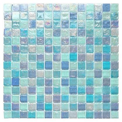 Мозаика Artens Wave 30х30 см стекло цвет голубой