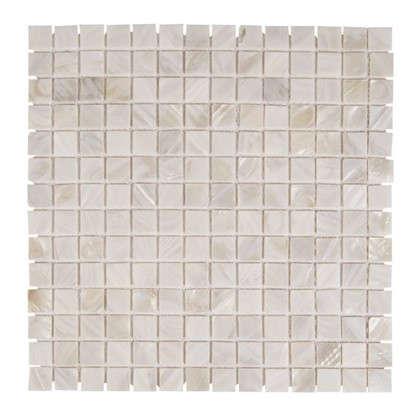Мозаика из ракушек цвет белый
