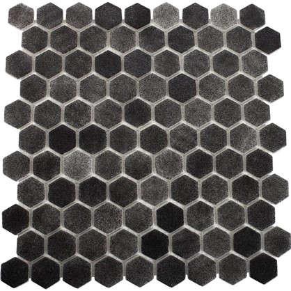 Мозаика стеклянная Hex Antislip 31.7х30.7 см цвет графит