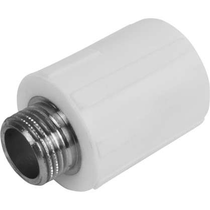 Муфта комбинированная наружная резьба 25х1/2 мм полипропилен