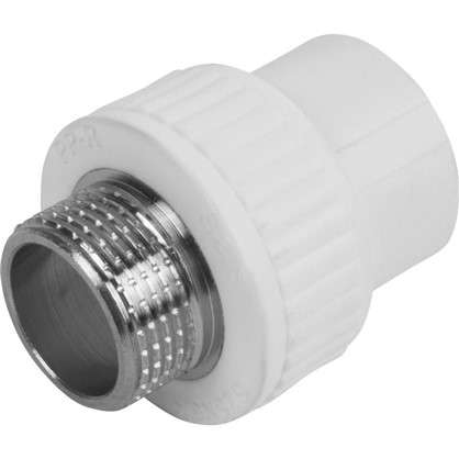 Муфта комбинированная наружная резьба 25х3/4 мм полипропилен