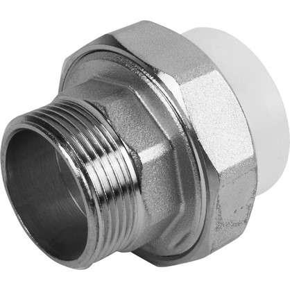 Муфта комбинированная наружная резьба  под ключ 40x1 1/4 мм полипропилен