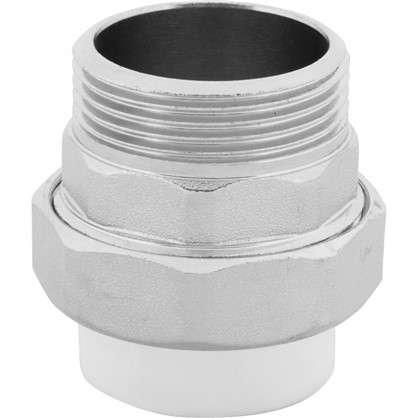 Муфта комбинированная разъемная наружная резьба 32х1 1/4 мм полипропилен
