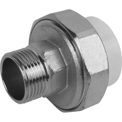 Муфта комбинированная разъемная наружная резьба 32х3/4 мм полипропилен