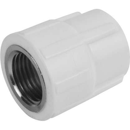 Муфта комбинированная внутренняя резьба 20х1/2 мм полипропилен