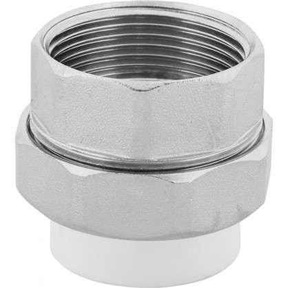 Муфта комбинированная внутренняя резьба 32х1 1/4 мм полипропилен
