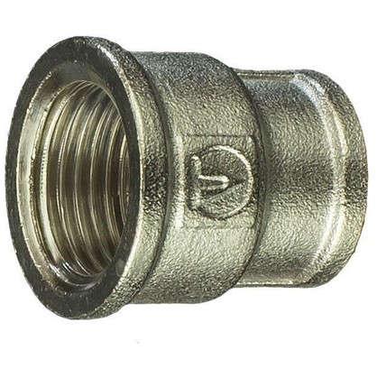 Муфта переходная Valtec внутренняя резьба 1/2х10 мм никелированная латунь
