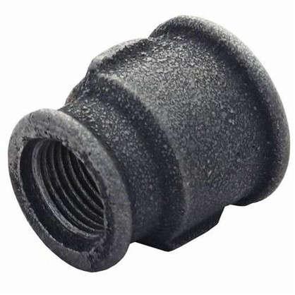 Муфта переходная внутренняя резьба 1х3/4 мм ковкий чугун цвет черный