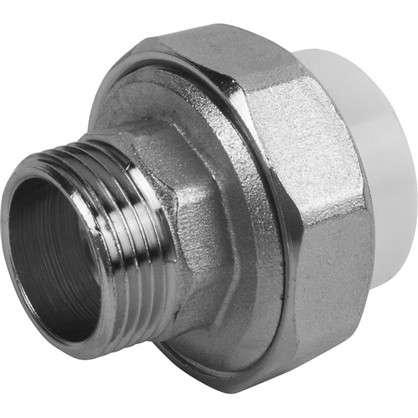 Муфта разъмная наружная резьба 25х3/4 мм полипропилен