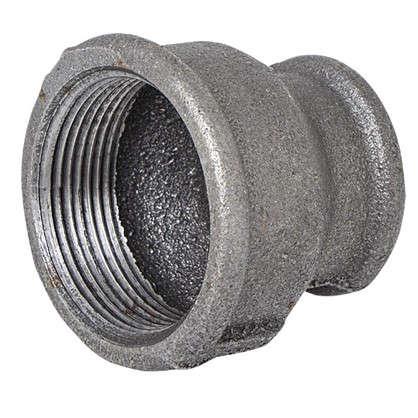 Муфта внутренняя резьба 1 1/2х1 мм ковкий чугун цвет черный