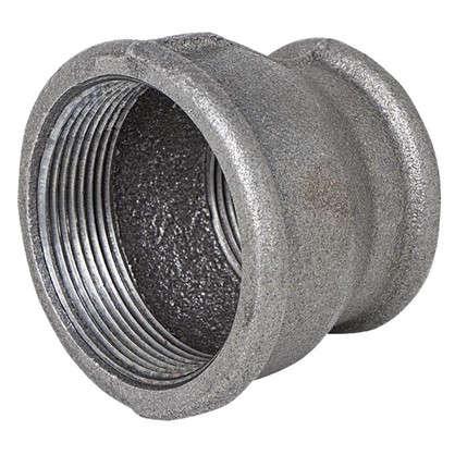 Муфта внутренняя резьба 1 1/2х2 мм ковкий чугун цвет черный