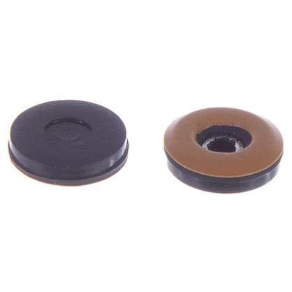 Набойки Standers PTFE 30 мм круглые пластик цвет коричневый 4 шт.