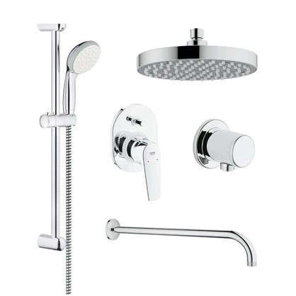 Набор душевой Grohe Bau Flow для скрытого монтажа с верхним и ручным душем