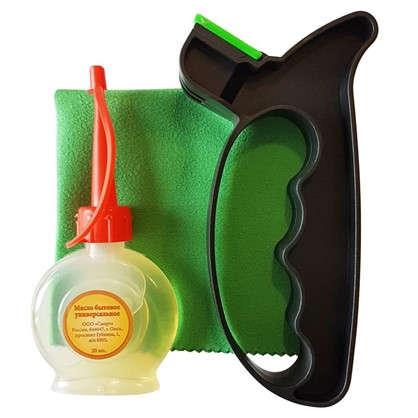 Набор Gardmax: точилка масло бытовое тряпка