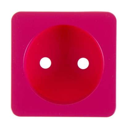 Накладка для розетки Lexman без заземления цвет фуксия