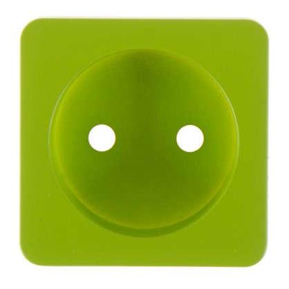 Накладка для розетки Lexman без заземления цвет зелёный
