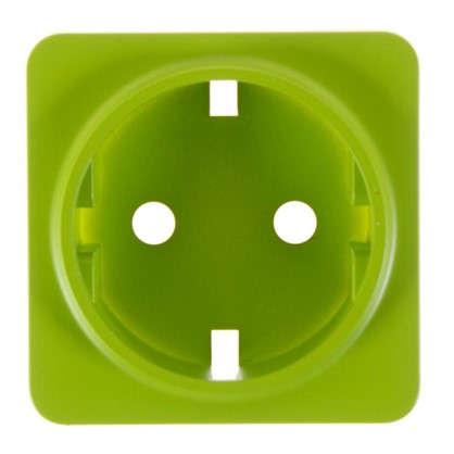 Накладка для розетки Lexman с заземлением цвет зелёный