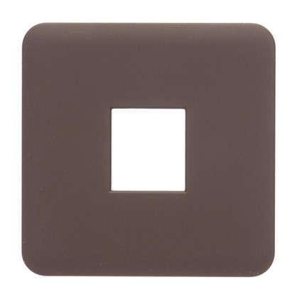 Накладка для телефонной розетки Lexman RJ11-12-45 цвет шоколадный