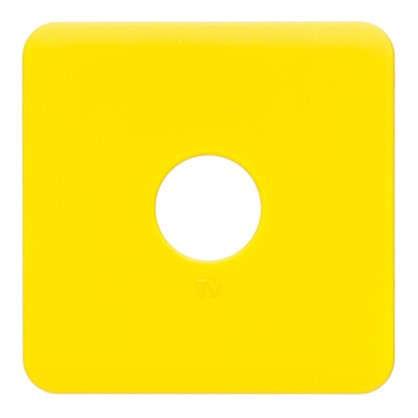 Накладка для ТВ розетки Lexman цвет лимонный