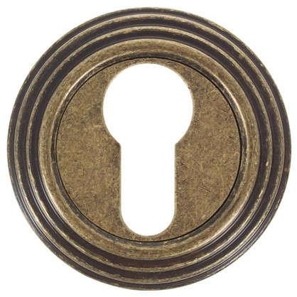 Накладка на цилиндр EDS-SC V001 AGED BRONZE цвет античная бронза