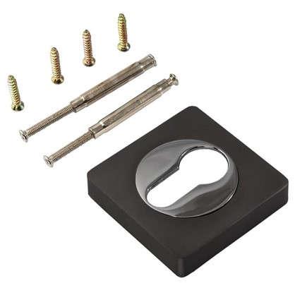 Накладка на цилиндр к ручкам BK AL 02 цвет матовый черный никель