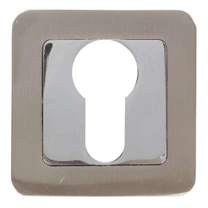 Накладка под цилиндр ET QR SN/CP-3 цвет матовый никель/хром