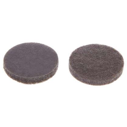 Накладки фетровые Standers 25 мм круглые войлок цвет коричневый 8 шт.