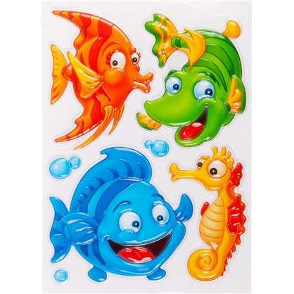 Наклейка 3D Рыбки POA 1010