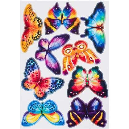 Наклейка Акварельные бабочки Декоретто S