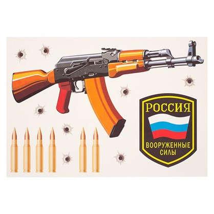 Наклейка Автомат Калашникова Декоретто S