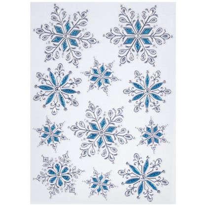 Наклейка Голубые снежинки