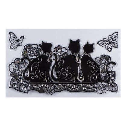 Наклейка-крючок двойной Мартовские коты SHA0801