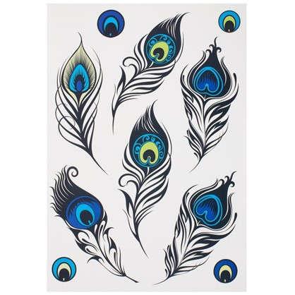 Наклейка Роскошные перья Декоретто