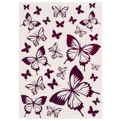 Наклейка Розовые бабочки Декоретто L 5 шт.