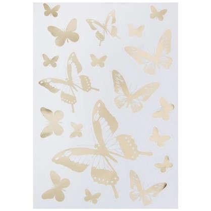 Наклейка Сияющие бабочки Декоретто