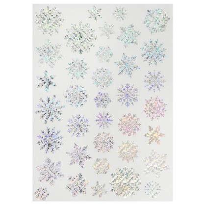 Наклейка Сверкающие снежинки Декоретто L
