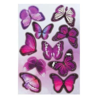 Наклейка ультрафиолет Бабочки Декоретто S