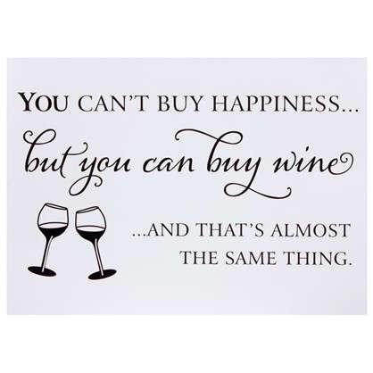 Наклейка You can buy wine