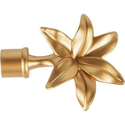 Наконечник Флер  алюминий цвет золото матовое 2 см 2 шт.