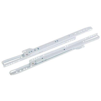 Направляющие роликовые Boyard DS01W.1/350 металл цвет белый
