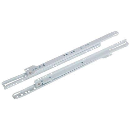 Направляющие роликовые Boyard DS01W.1/400 металл цвет белый