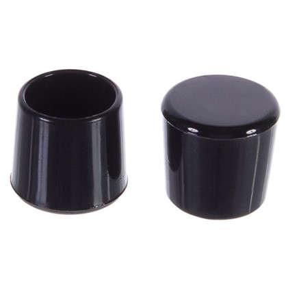Насадки Standers 14 мм круглые пластик цвет черный  4 шт.