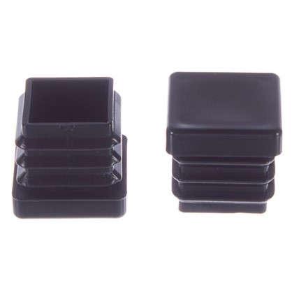Насадки Standers 22х22 мм квадратные пластик цвет черный 4 шт.