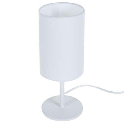 Настольная лампа Nice база 1xE14x40 Вт металл/ткань цвет белый