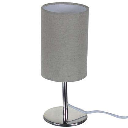 Настольная лампа Nice база 1xE14x40 Вт металл/ткань цвет хром
