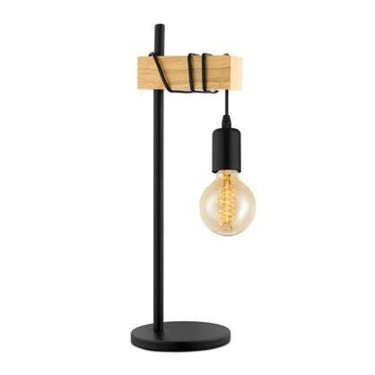 Настольная лампа Townshend 1хE27х60 Вт цвет черный/дерево