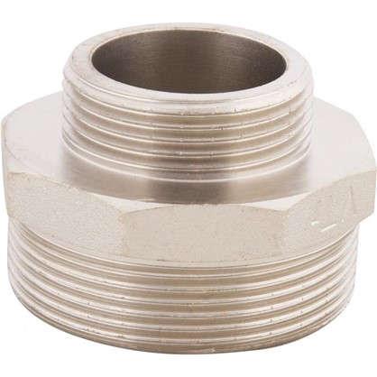 Ниппель переходной Valtec наружная-наружная резьба 1 1/4х2 никелированная латунь