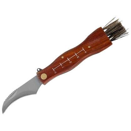 Нож грибника малый деревянная рукоятка
