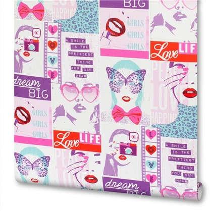 Обои бумажные для детской Girls 0.53х10 м цвет розовый Ra 209600