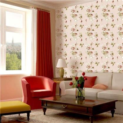 Обои бумажные Пленэр 0.53х10 м цветы цвет бежевый 414-02